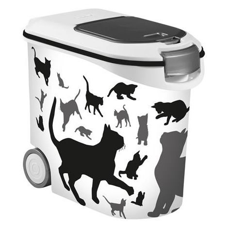 Curver Behälter mit Katzensilhouette L: 50 cm B: 28 cm H: 43 cm 35 l