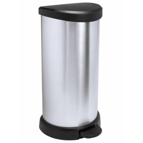 Curver Deco Pedal Bin 40 L Silver 240637