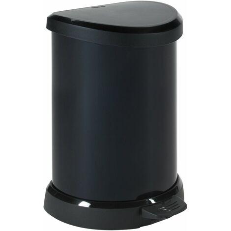 Curver Deco Pedal Bin with Inner Bin 20L Silver