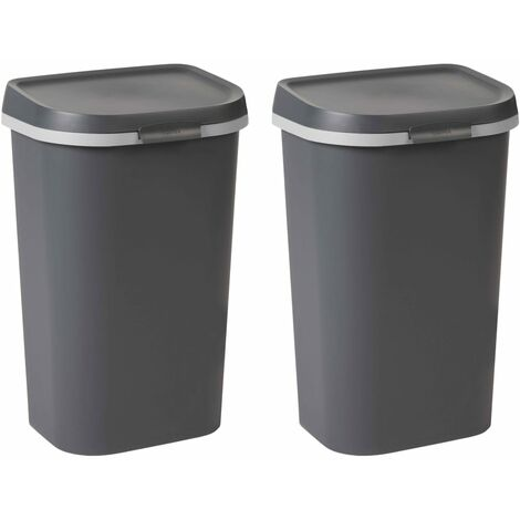 Curver Mistral Waste Bins 2 pcs 100L Anthracite - Grey