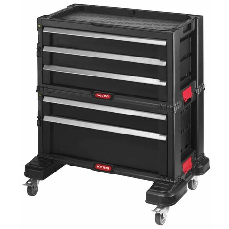 Curver Modular Tool Chest of Drawers Black