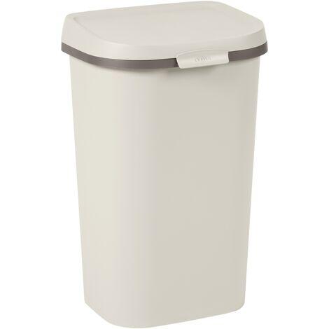 Curver Müll Mistral Wohnung recyceltes PVC beige 50L