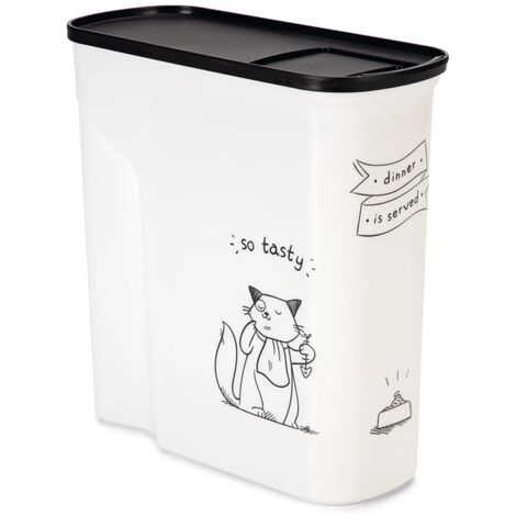 Curver Pet Food Container Dinner is Served Cat 6L - White