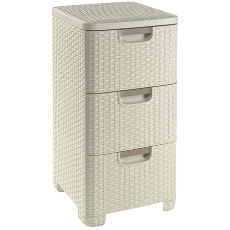 Curver Style Drawer Cabinet 42 L White 240645