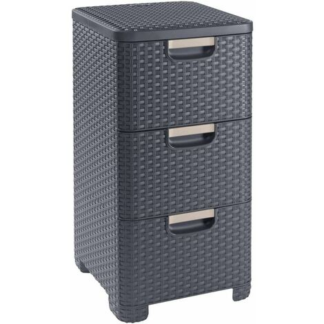 Curver Style Drawer Cabinet 42L Anthracite - Grey