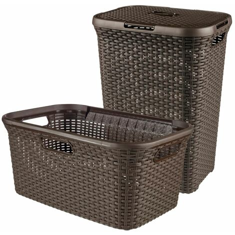 Curver Style Hamper and Laundry Basket Brown 105 L 240684 - Brown