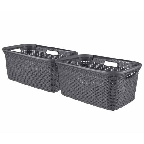 Curver Style Laundry Basket Set 2 pcs 45L Anthracite