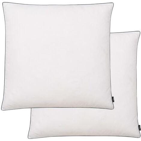 Cuscini 2 pz in Mix di Piume 80x80 cm Bianco