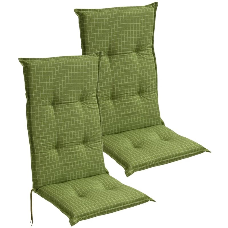 Cuscini X Sedie Da Giardino.Cuscini Con Schienale Per Sedie Da Giardino 2 Pezzi 117x49 Cm Verde