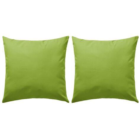 Foto Di Cuscini.Cuscini Da Esterno 2 Pz 60x60 Cm Verde Mela