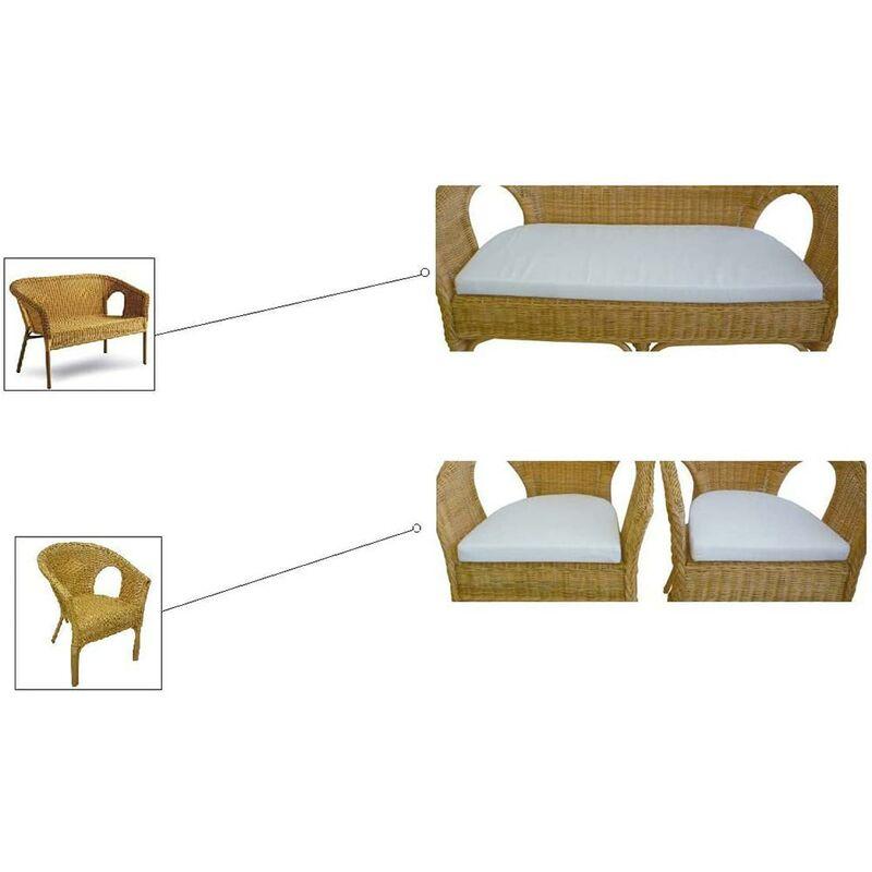 Cuscini sfoderabili Kelec per 1 divanetto con 2 poltrone