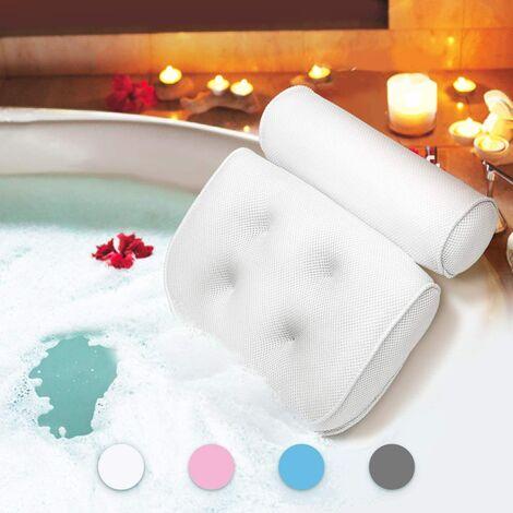 Cuscino da bagno, Cuscino da bagno con ventose, Cuscino ergonomico per poggiatesta domestico per vasca idromassaggio, Jacuzzi, Vasca idromassaggio, Home Spa (38 x 36 x 8,5 cm)