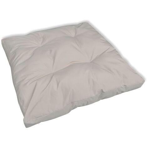 Cuscino imbottito per sedia 80 x 80 x 10 cm colore sabbia