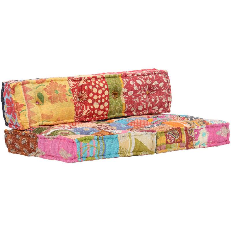 Cuscini Per Il Divano.Cuscino Per Divani Pallet Multicolore In Tessuto Patchwork