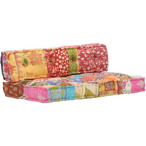 Cuscini A Righe Per Divani.Cuscino Per Divani Pallet Multicolore In Tessuto Patchwork