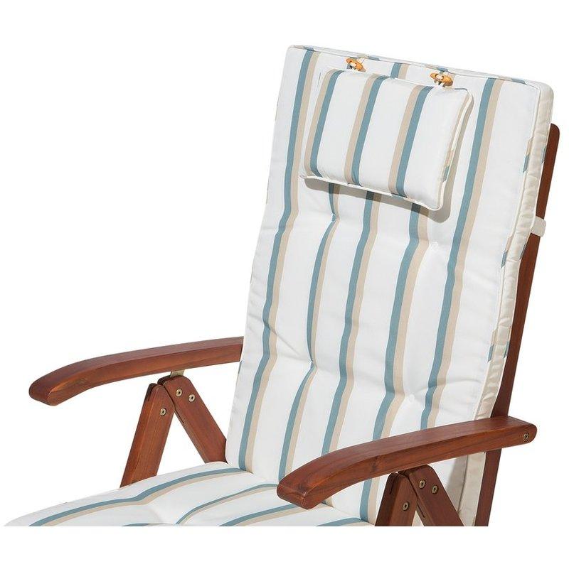 Cuscino per sedia da giardino TOSCANA strisce verdi beige