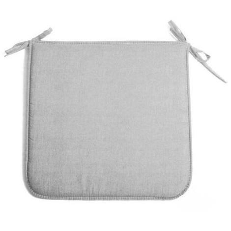 Cuscino per sedie grigio 38x41 cm modello Panarea spessore di soli 2 cm