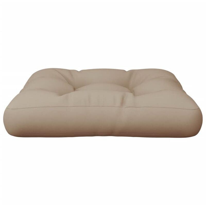 Cuscino per Seduta da Giardino Grigio Talpa 60x60x10cm Tessuto