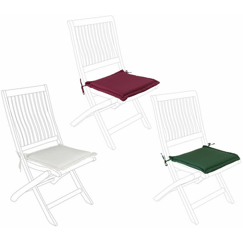 Cuscino Sedia da Esterno Seduta classica Sfoderabile Giardino 42 x 42 Bizzotto
