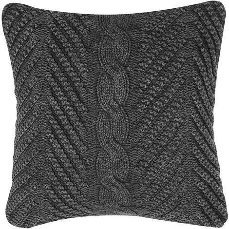 Cushion 45 x 45 cm Grey KONNI