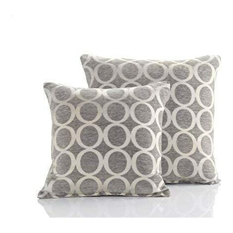 """Cushion Cover Oh 18"""" Silver Bed Sofa Accessory Unfilled Decor"""
