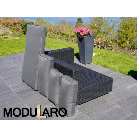 Cushion Covers for right/left arm sofa for Modularo, Black