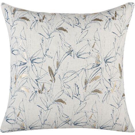 Cushion Floral Pattern 45 x 45 cm Beige ARBOR
