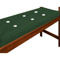 Cushion for 2 Seater Bench 110 x 45 cm Green
