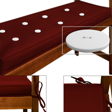 Cushion for 3 Seater Bench 145 x 45 cm Red