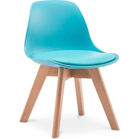 Cushioned Wooden and Polypropylene Kids' Chair