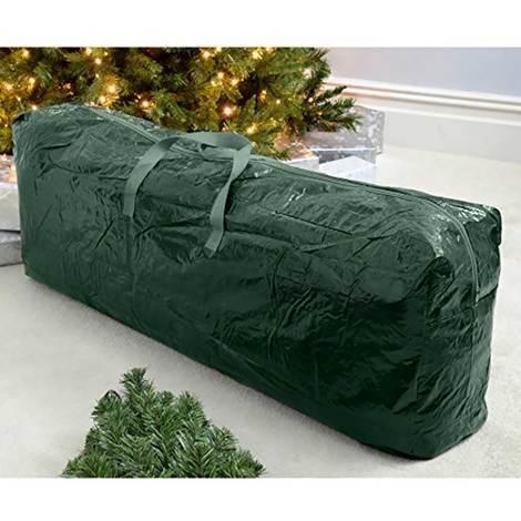 Custodia Sacco Porta Albero di Natale in Plastica Verde Misure 102x18x16,5cm