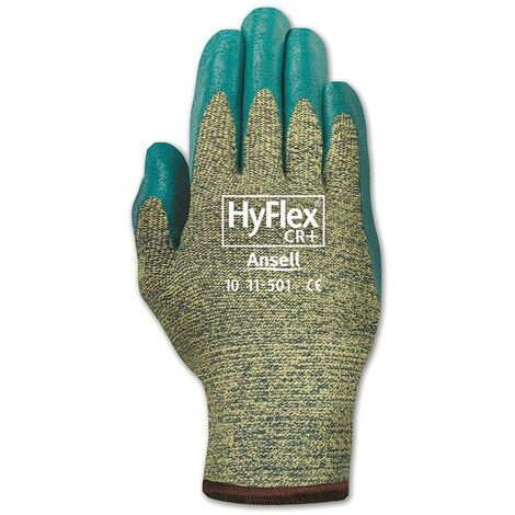 Cut Resistant Gloves, Nitrile Coated, Grey/Blue