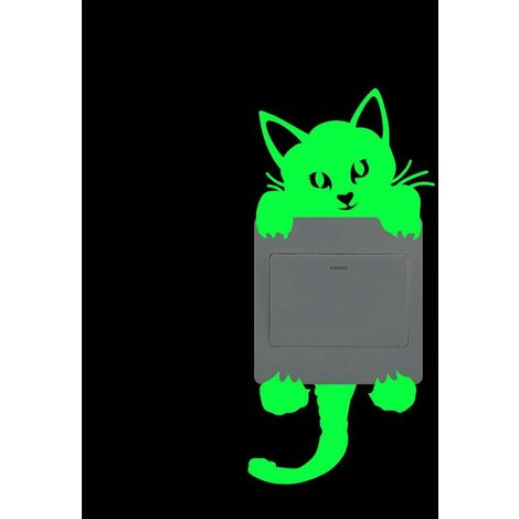 Cute DIY light switch sticker, removable wall stickers Wall Art, fairy stars cat Wall Sticker, perfect for kids room decor