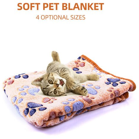 """main image of """"Cute Dog Bed Mats Blanket Soft Foot Print Warm Dog Sleeping Bed Cover Mat Dog Towels,model:Coffee S"""""""