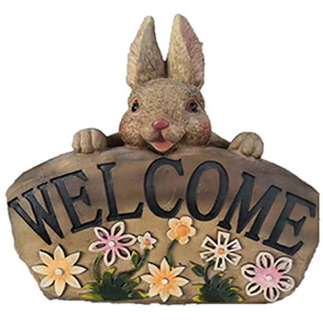 Cute Rabbit Plant Pot Flowerpot Planter Outdoor Indoor Decor Realistic