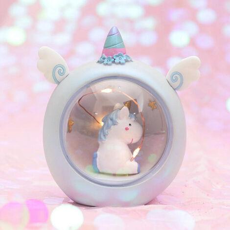 Cute Resin Unicorn Lamp Bedside Night Light Kids Girls Gift Birthday Christmas