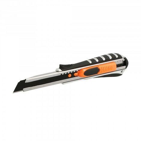 Cutter métal bi-matière-lame 18mm-autolock ou auto rétractable
