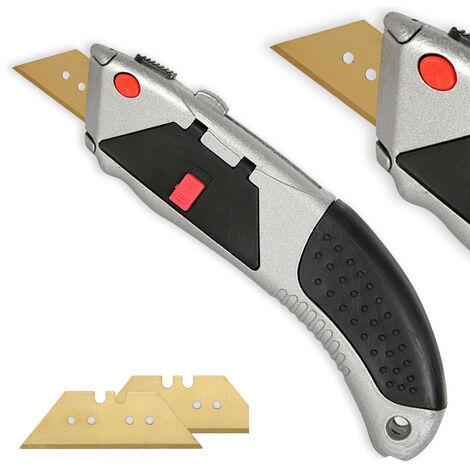 Cutter Professionnel Bimatière + 3 Lames en Titane 18 mm - Chargement automatique - Réservoir