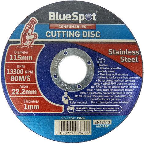 3PCE 115x22.2mm BLUE SPOT Flat Sanding Disc Set