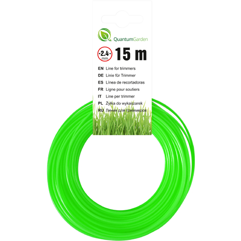 Cutting Line For Strimmers - Round -  2,4mm x 15m