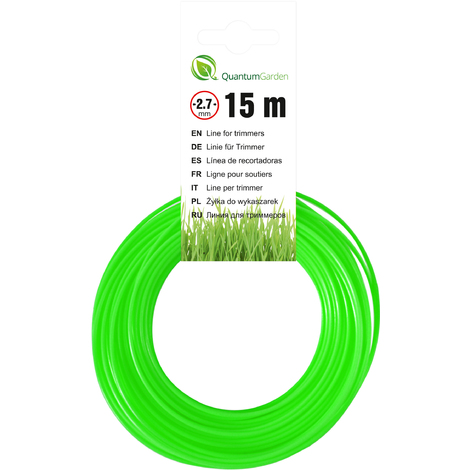 Cutting Line For Strimmers - Round -  2,7mm x 15m