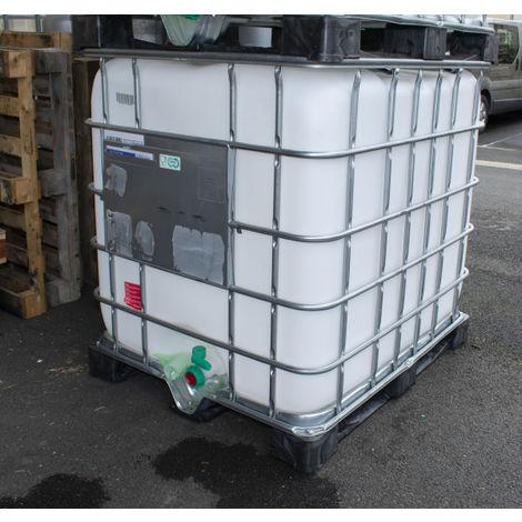 Cuve 1000 litres blanche sur palette plastique ou acier