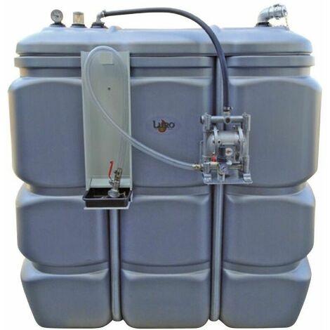 Cuve 1000 litres équipée huiles usées avec pompe à membrane - Luro