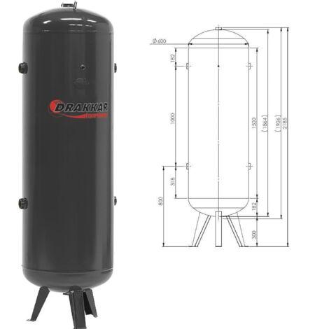 CUVE 500L VERTICALE 11 Bars pour Compresseur -S11247