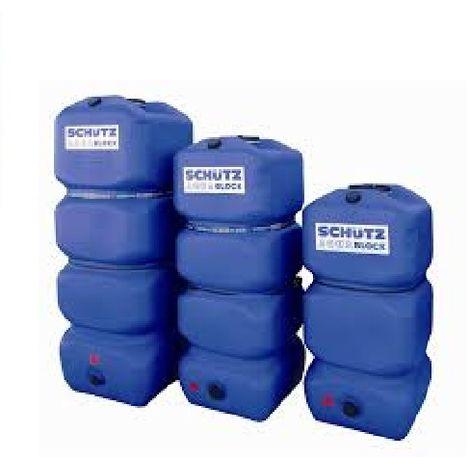 Cuve à eau aérienne SCHUTZ AQUABLOCK 750 LITRES stockage eau potable ou eau de pluie