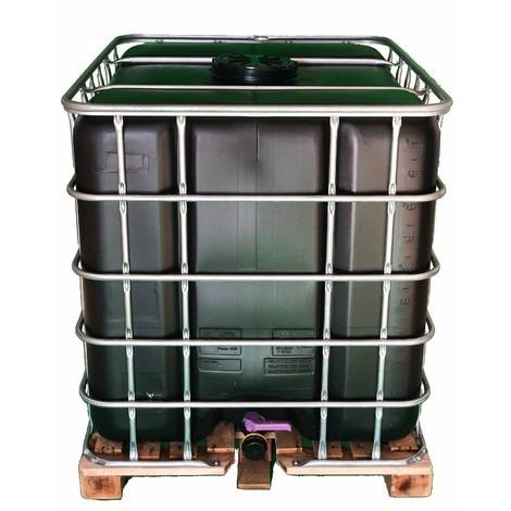 Cuve citerne noire palette bois 1000 Litres récupération eau pluie ...