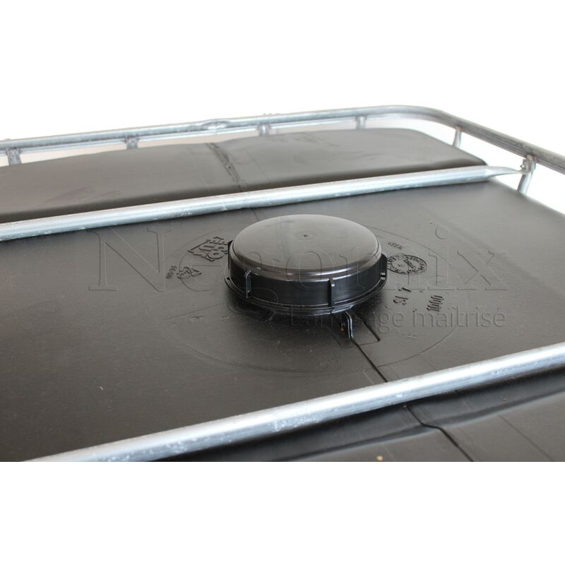 Cuve Citerne Noire Palette Plastique 1000 Litres Recuperation Eau Pluie Ci1000 Ppnf