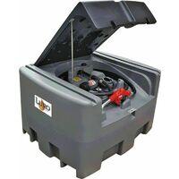 Cuve GRV compact PEHD 400 litres distribution gasoil avec pompe 12 v - pistolet à arrêt auto - Luro
