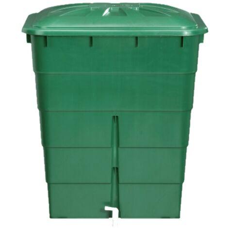 """main image of """"Cuve rectangulaire 300L vert avec couvercle et robinet PE"""""""