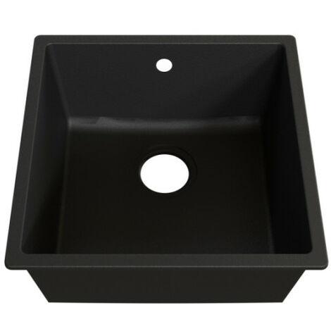 Cuve RESIROC - évier 1 bac sans égouttoir - 44 x 44 cm - Noire